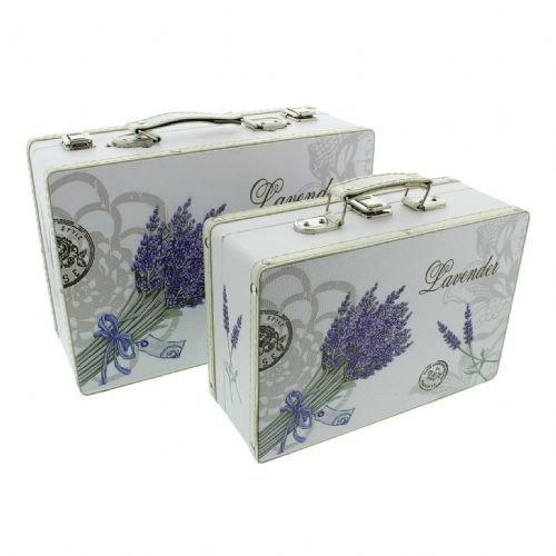 Best Set Of 2 Vanity Cases Decorative Pretty Storage Boxes With Pictures